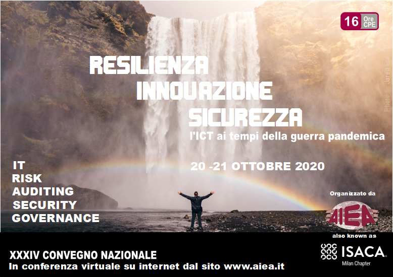 DeepCyber presente al XXXIV Convegno Nazionale - IT Auditing, Security & Governance 2020